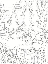 80 coloring pages winter images drawings