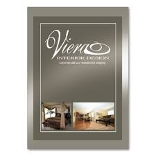 viera home staging interior design pewter business card