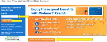 to my card manage and pay your walmart credit card account