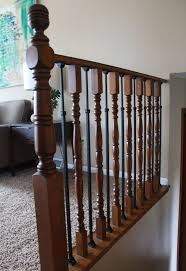 Banister On Stairs Stair Railing Makeover Diy Baluster Hometalk