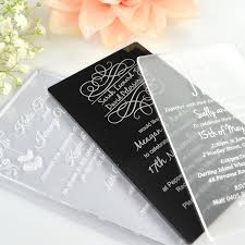 acrylic wedding invitations u2013 frenchkitten net