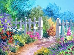 paint dream dream garden oil painting prints canvas for children bedroom wall
