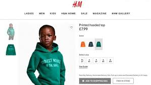h m apologizes for coolest monkey sweatshirt ad featuring black