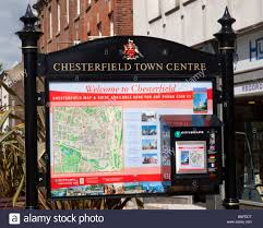Derbyshire England Map by A Welcome To Chesterfield Town Center Map And Information Panel