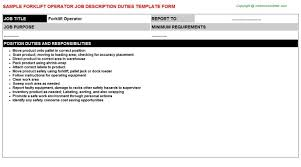 Certified Forklift Operator Resume Warehouse Forklift Operator Job Description Perfect Resume