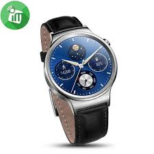 huawei classic bracelet images Huawei watch w1 stainless with black leather strap imediastores jpg