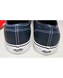 discount vans authentic leather dress blues stripes men size 13