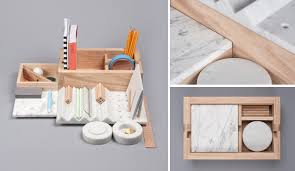 Marble Desk Accessories Desk Accessories Set Wood With Your Pertaining To
