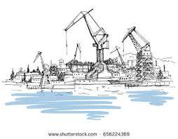 tugboat landscape vector download free vector art stock