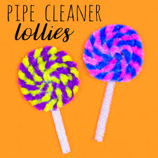 pipe cleaner lolly pops u2014 doodle and stitch
