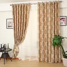 luxury bedroom curtains gold patterned jacquard polyestser luxury bedroom curtains on sale