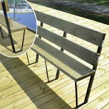 Deck Bench Bracket Bench Bracket For Deck In Steel Fencing Accessories Patrick Morin