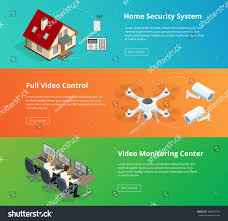 securitysystem control room guard monitoring home stock vector