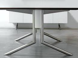 bureau metal et verre pied de bureau design cosimo blanc et verre metal bim a co