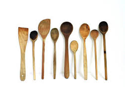 Wood Carving Kitchen Utensils by Rustic Wooden Spoon Etsy