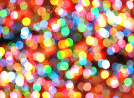 bright colorful rainbow lights are blurred and shiny makes