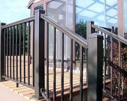 pegatha aluminum deck railing in black pegatha aluminum deck