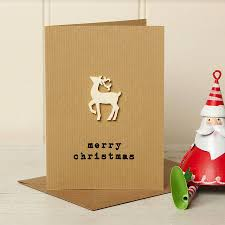 festive nordic stag u0027merry christmas u0027 card by lovely jubbly