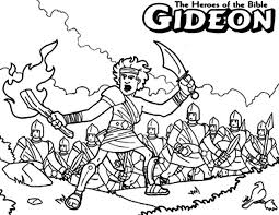 gideon coloring pages coloring