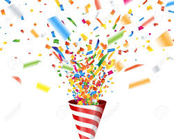 party poppers party popper with confetti royalty free cliparts vectors and