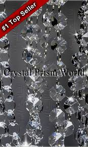 Glass Chain Chandelier Crystal Garland Chain Strands Crystal Prism World
