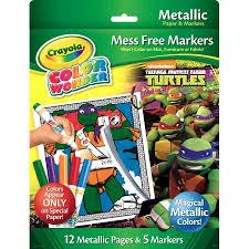crayola color wonder metallic paper u0026 markers teenage mutant