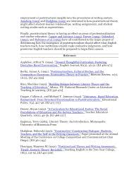 Example Of Education Resume by Post Structuralism