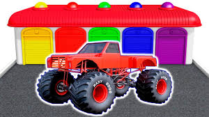 bigfoot presents meteor and the mighty monster trucks monster truck colors for children learning educational video