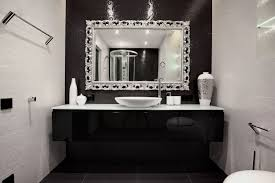 Black And White Bathroom Decorating Ideas Black White Bathroom Decor Decoist Dma Homes 1878