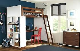 bunk bed with desk underneath mixing work with pleasure loft beds