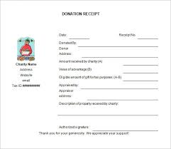 Charity Donation Receipt Template donation receipt template 12 free word excel pdf format