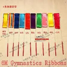 ribbon sticks 6pcs 6m ribbon sticks rhythmic gymnastics ginastica