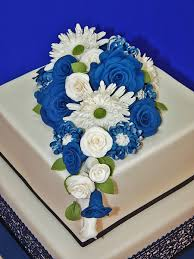 navy blue u0026 white wedding cake cakecentral com