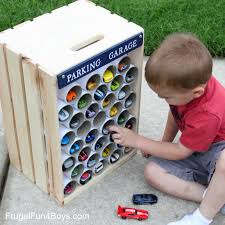 diy wooden crate storage and display for wheels cars