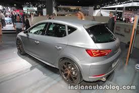 seat leon cupra r rear three quarters at iaa 2017 indian autos blog