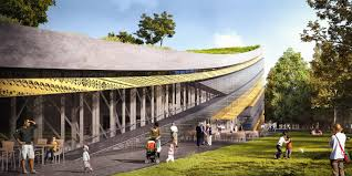 architect designs napur architect designs a bowed building for the ethnography