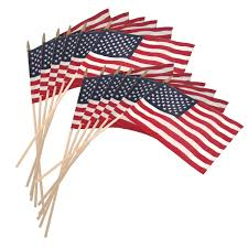 Wooden Nautical Flags Us Stick Flag 12inx18in 30in X 3 8in Wood Stick Us Made 12pk
