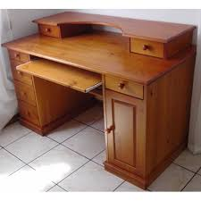 bureau en pin bureau multimédia authentic style pin massif achat et vente