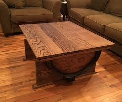 wine barrel coffee table 7 steps with pictures