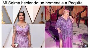 Salma Hayek Meme - os mejores memes que destrozaron el vestido de salma hayek en los