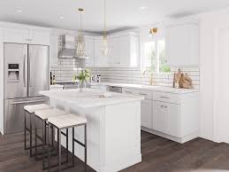 how to turn kitchen cabinets into shaker style aspen white shaker ready to assemble kitchen cabinets