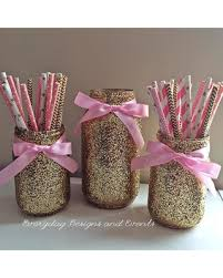 wedding centerpieces for sale hot sale pink and gold jar centerpiece baby shower