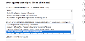 Cabinet Executive Branch White House Survey On Waste Includes The White House