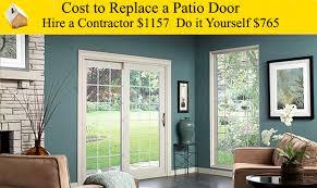 How To Fix A Patio Door Cost To Replace A Sliding Patio Door