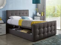 king size ottoman bed frame cavill slate grey fabric ottoman bed frame dreams