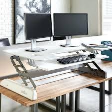 desk cube plus sitting standing desk conversion standing vs