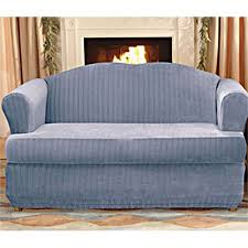 Surefit Sofa Slipcovers by Sure Fit Stretch Pinstripe 2 Piece T Cushion Sofa Slipcover