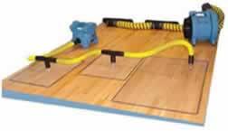 water damaged hardwood floor restoration services