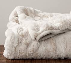 White Throws For Sofas Ruched Faux Fur Throw Ivory Pottery Barn