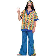 c603 mens 60 u0027s 70 u0027s far out peace hippie halloween fancy dress